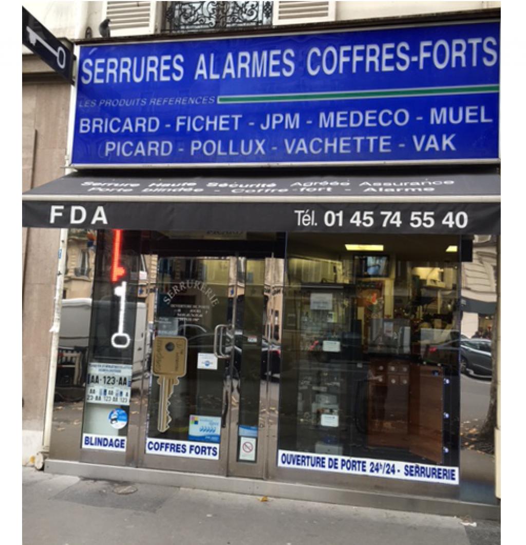 Photo de couverture SARL F. D. A. SERRURERIE à Paris 17e arrondissement