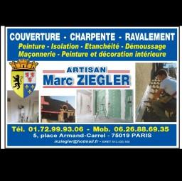 logo couvreur Artisan  Marc  ZIEGLER Paris 19e arrondissement