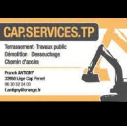 logo entreprises de gros oeuvre CAPSERVICES TP Lège Cap Ferret