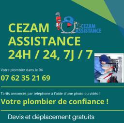 logo plombier Cezam assistance Saint Mandé