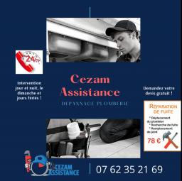 logo plombier Cezam assistance Aulnay Sous Bois