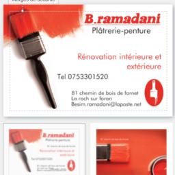 logo peintres RAMADANI PLATRERIE PEINTURE La Roche Sur Foron