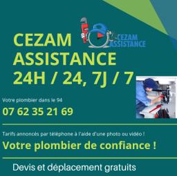 plombier Cezam assistance Paris 18e arrondissement