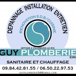 logo plombiers EIRL GUY PLOMBERIE Villeneuve Le Roi